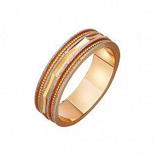 Золотое обручальное кольцо Комплимент