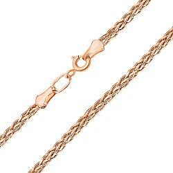 Золотая цепочка поли в красном цвете плетения колосок