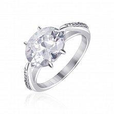 Серебряное кольцо с фианитами Амрита