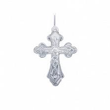 Серебряный крест Ангел Хранитель