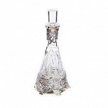 Стеклянный графин с серебром и позолотой Девушка