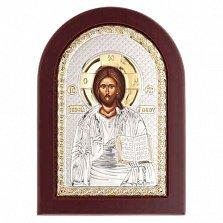 Икона серебро с позолотой Иисус Христос