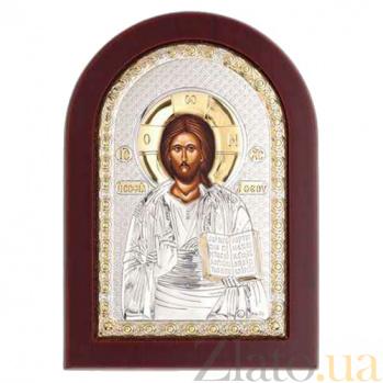Икона серебро с позолотой Иисус Христос AQA--MA/E1107DX