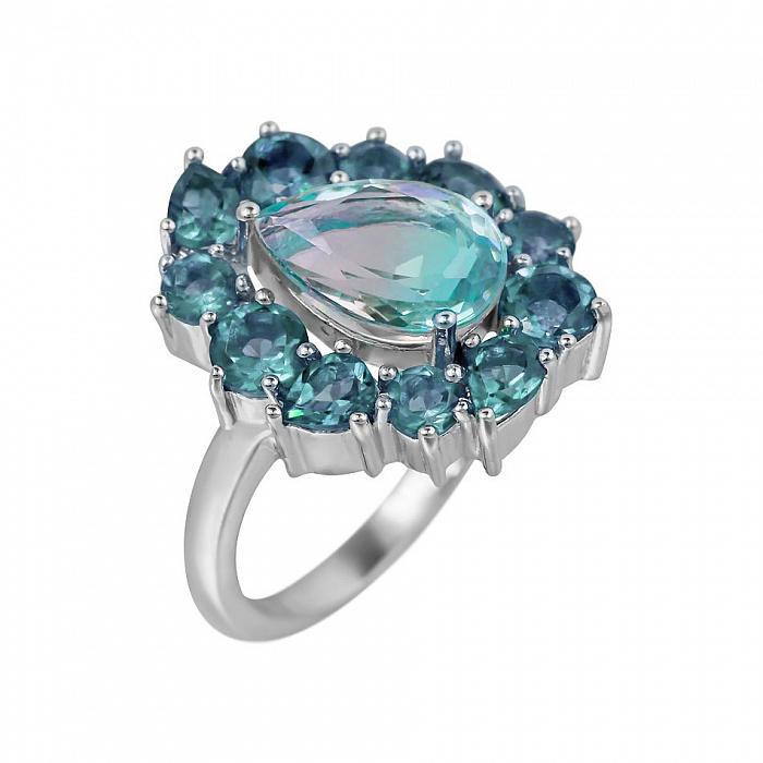 Серебряное кольцо Инесса с топазами 000081584