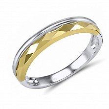 Обручальное кольцо Марсела из белого и желтого золота