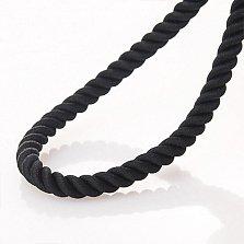 Шелковый шнурок Картен с серебряной застежкой, 4мм