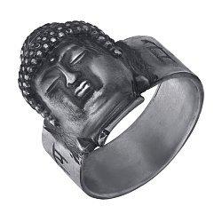 Серебряное кольцо Buddha с чернением