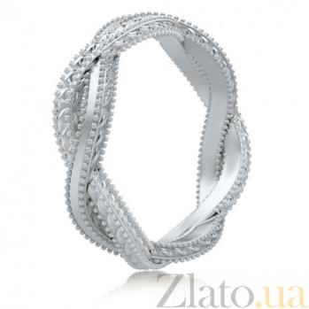Обручальное кольцо в белом золоте Загадки Галактики: Золотое сечение 5803
