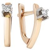 Золотые серьги Миграника с бриллиантами