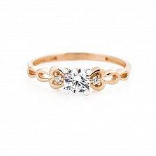 Золотое кольцо Мелинда с цирконием