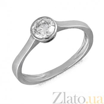 Кольцо в белом золоте Элегия с фианитом 000022906