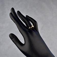 Кольцо в красном золоте Афродита с бриллиантом