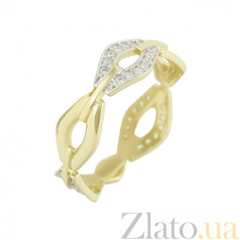 Золотое кольцо с фианитами Ираида 2К765-0062