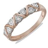 Кольцо Стелла из красного золота с бриллиантами