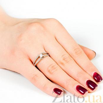 Кольцо из белого золота с бриллиантами Балерина EDM--КД7417/1