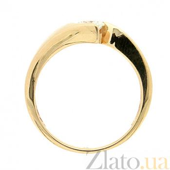 Золотое кольцо в красном цвете с бриллиантом Джахан 000021501
