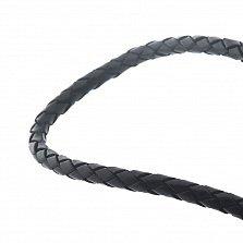 Кожаный шнурок Стремление с серебряной застежкой и чернением