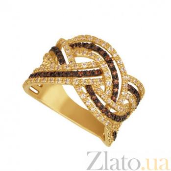 Золотое кольцо Олимп с фианитами VLT--ТТТ1077-3