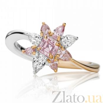 Кольцо Argile из белого и розового золота с бриллиантами и розовыми сапфирами R-cjAr-W/R-6s-4d