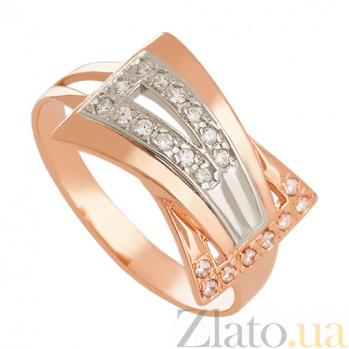 Золотое кольцо Альберта с фианитами VLN--212-145