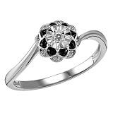 Кольцо из белого золота Ольга с бриллиантами