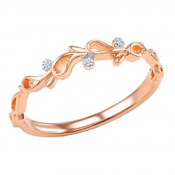 Кольцо из красного золота с бриллиантами Веночек