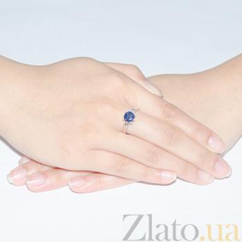 Золотое кольцо Шарм с сапфиром и бриллиантами KBL--К1920/бел/сапф