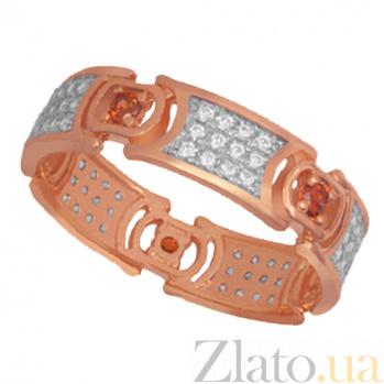 Золотое кольцо с кристаллами циркония Мелинда VLT--ТТ1251