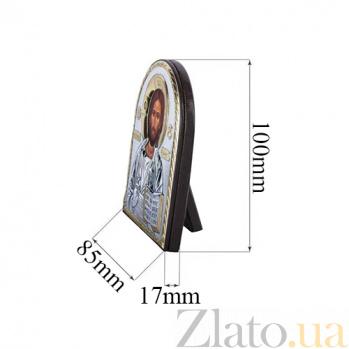 Серебряная икона с позолотой Иисус Христос  AQA--EP3-001XLAG-BR