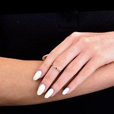 Фаланговое кольцо Минни из красного золота с разомкнутой шинкой