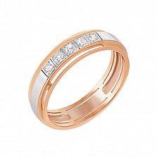 Золотое обручальное кольцо Свет любви с бриллиантами