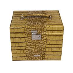 Шкатулка для украшений Kroko цвета охры 000015214