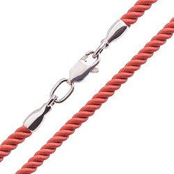 Шелковый шнурок Признание с серебряной застежкой