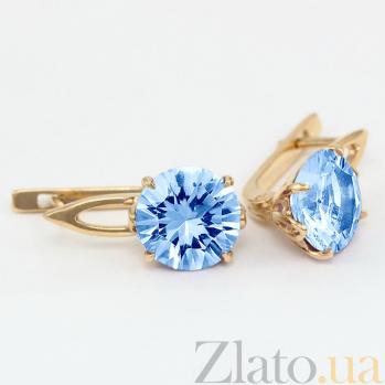 Серьги из золота с голубыми топазами Селесте VLN--113-1351-1