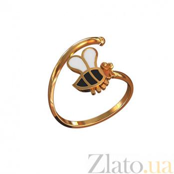 Золотое кольцо с эмалью Пчёлка TNG--300383Е