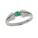 Серебряное кольцо с изумрудом Анита