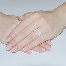 Кольцо из керамики и серебра Ханна