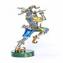 Серебряная статуэтка с позолотой Джокер