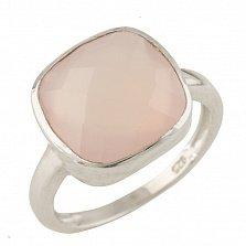 Серебряное кольцо Аркадия с розовым кварцем