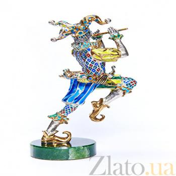 Серебряная статуэтка с позолотой Джокер 692