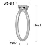 Кольцо Наина из белого золота с бриллиантами и сапфиром