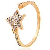Золотое кольцо с фианитами Звезды