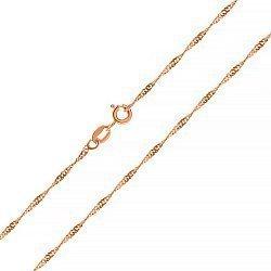 Серебряная цепь с позолотой, 2 мм 000047392
