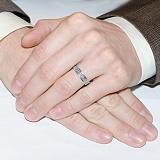 Серебряное обручальное кольцо Спаси и Сохрани