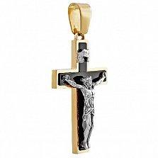 Золотой крест с агатом Божья благодать