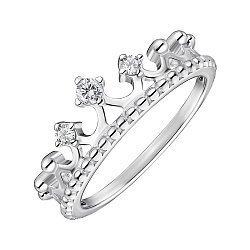 Серебряное кольцо с фианитами 000148471