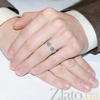 Серебряное кольцо Спаси и Сохрани с чернением 000006150
