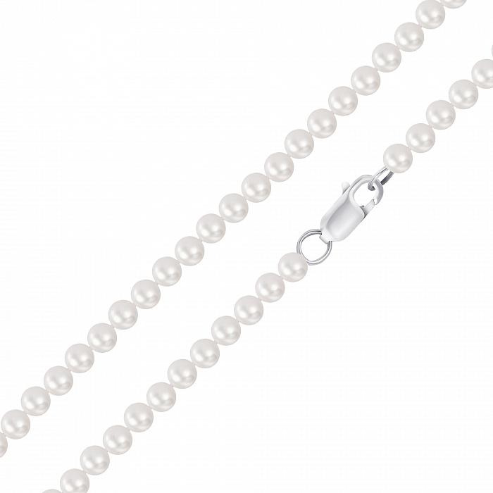 Бусы из серебра и жемчуга, d 8,5-9 мм 000148124 000148124