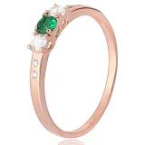 Позолоченное серебряное кольцо Фрейя с цирконием