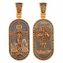Ладанка Архангел Михаил в красном золоте